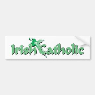Irish Catholic Cross Bumper Sticker