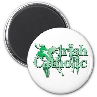 Irish Catholic Gothic Cross 2 Inch Round Magnet