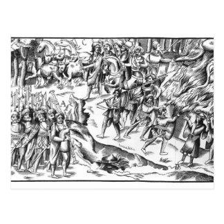 Irish Cattle Raid on an English Plantation Postcards