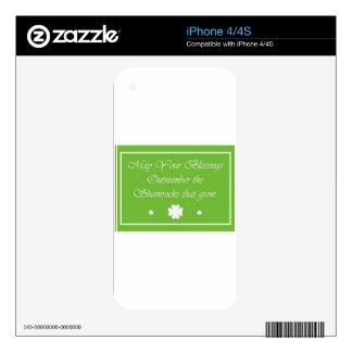 Irish, Celtic blessing gift, tie, iPhone cover Skin For iPhone 4S
