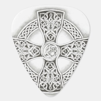 Irish Celtic Cross Fantasy Guitar Pick by TheInspiredEdge at Zazzle