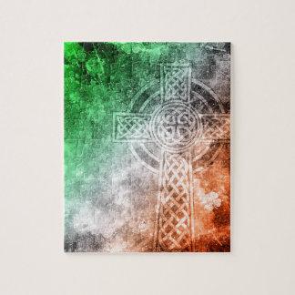 Irish Celtic Cross Jigsaw Puzzle