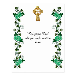 Irish Celtic Cross reception card