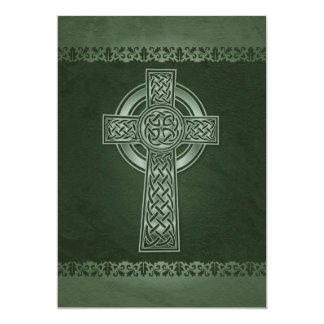 Irish Celtic Cross Wedding Invitations