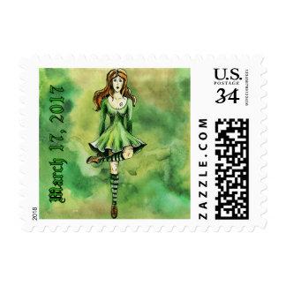 Irish Celtic Dancer St. Patrick's Day Postage