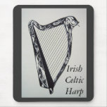 Irish Celtic Harp Mouse Pad