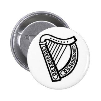 Irish/Celtic Harp Symbol of Irleand Pinback Buttons
