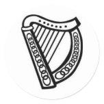 Irish/Celtic Harp Symbol of Irleand Classic Round Sticker