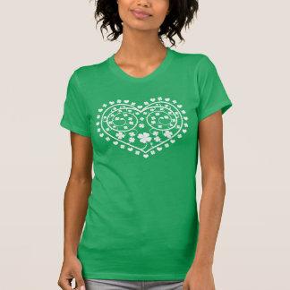 Irish Celtic Heart and Shamrock Spirals T-Shirt