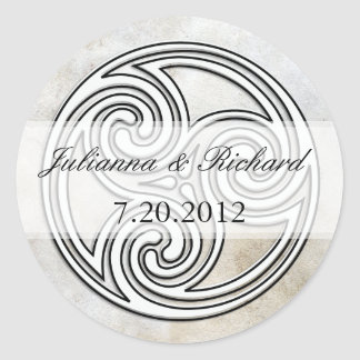 Irish Celtic Knot Invitation Seals