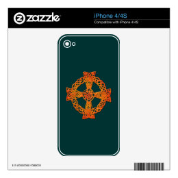 Irish Celtic Knots & Crosses Device Decals iPhone 4S Decals