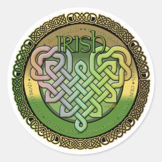Irish Celtic knots - St Patrick s day Round Stickers