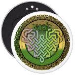 Irish Celtic knots - St Patrick's day Button