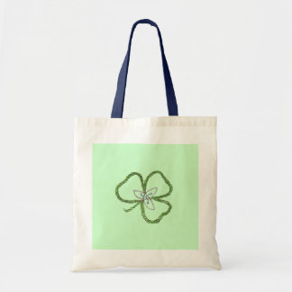 Irish Celtic Shamrock Knot Budget Tote Bag