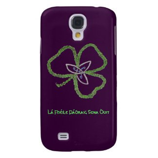 Irish Celtic Shamrock Knot Gaelic Samsung Galaxy S4 Cover