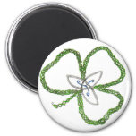 Irish Celtic Shamrock Knot Magnet