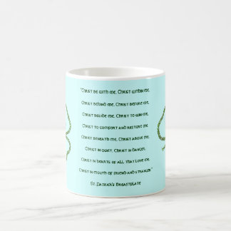 Irish Celtic Shamrock Knot St. Patrick's Prayer Coffee Mug