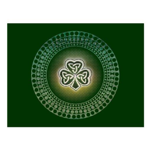 Irish celtic shamrocks postcards