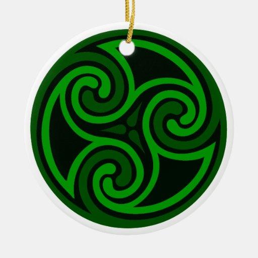 Irish Celtic Swirl Ornament