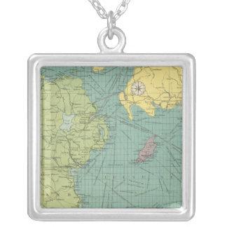 Irish Channel Square Pendant Necklace