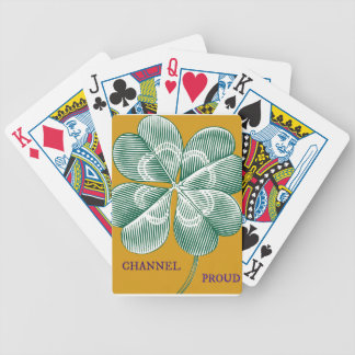 Irish Channel Proud - Represent Your Heritage Bicycle Playing Cards