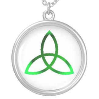 Irish Charm Round Pendant Necklace