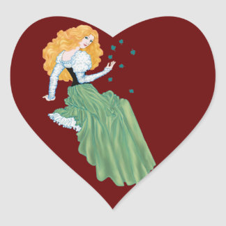 Irish Charm Heart Sticker