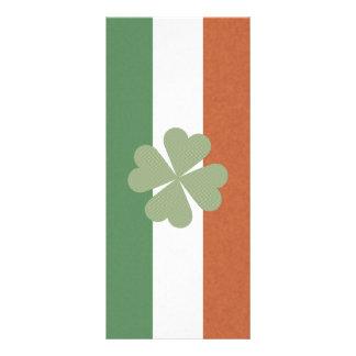 Irish Charming Lucky Clover Rack Card