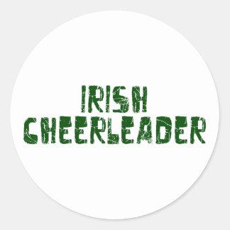 Irish Cheerleader Classic Round Sticker
