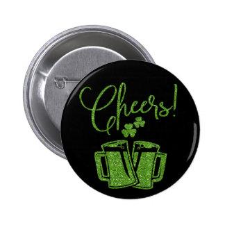 Irish Cheers Saint Patricks Day Party Button
