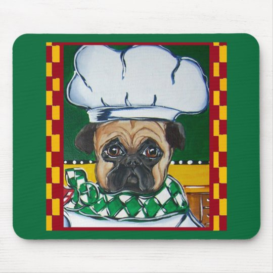 Irish Chef Pug Mouse Pad
