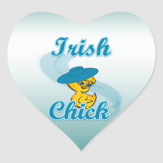 Irish Chick #3 Heart Sticker