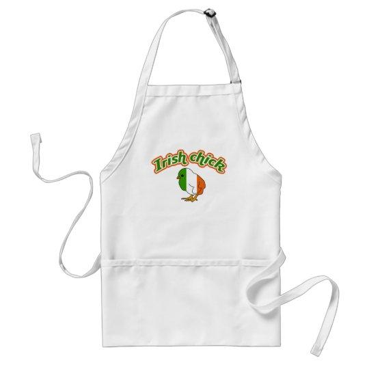 Irish chick adult apron