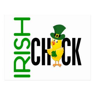 Irish Chick Postcard