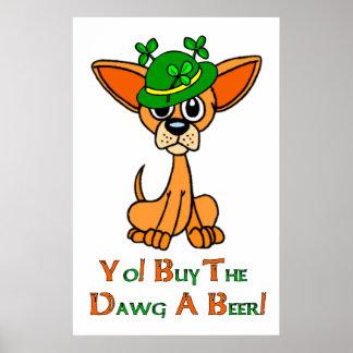 Irish Chihuahua Poster
