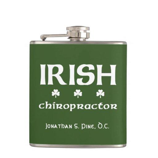 Irish Chiropractor Personalized Flask