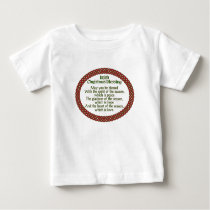 Irish Christmas Blessing, Red Green Celtic Holiday Baby T-Shirt