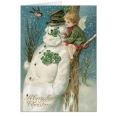 Irish Christmas Cards, Vintage Christmas Card at Zazzle