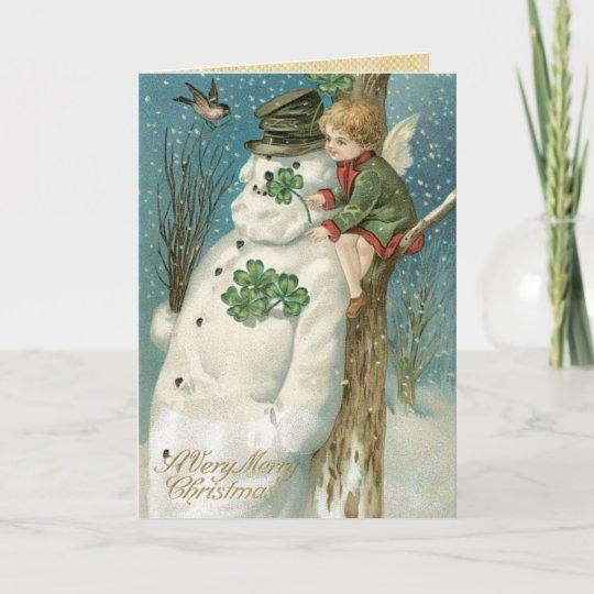 Irish Christmas Cards Vintage Christmas Holiday Card Zazzle Com