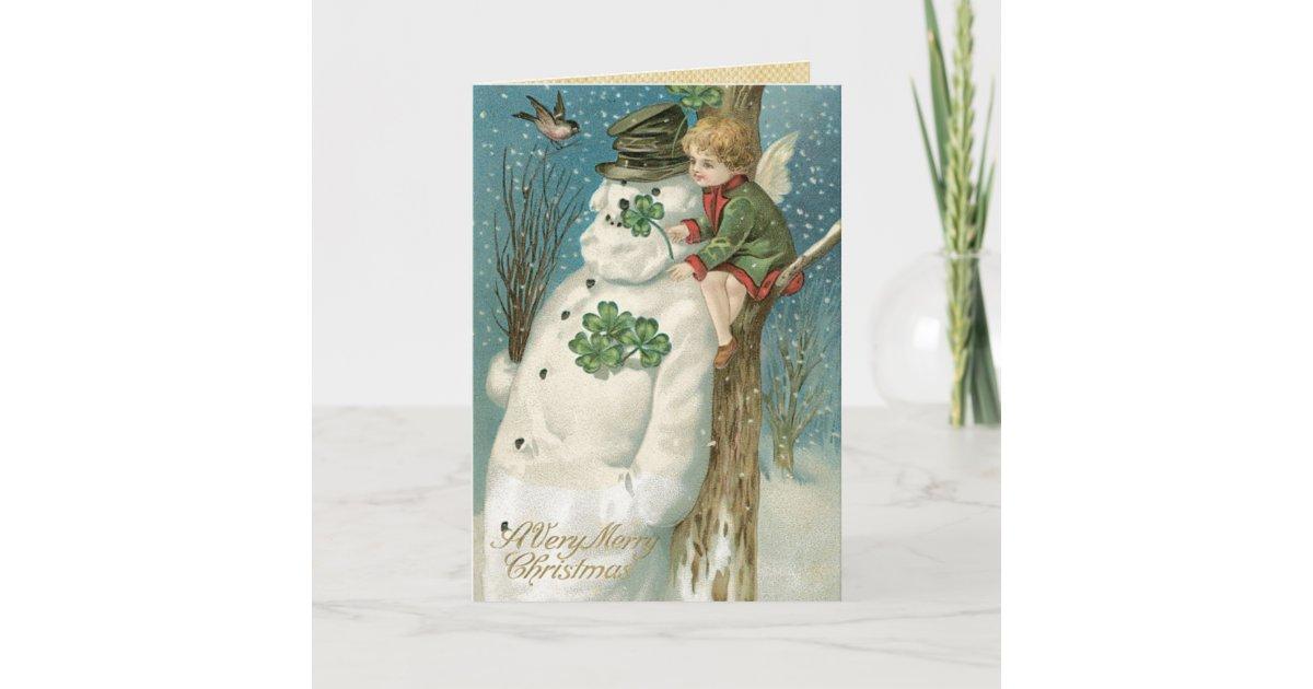 Irish Christmas Cards, Vintage Christmas Holiday Card | Zazzle.com