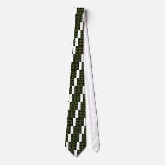 Irish Christmas Clover Pattern Tie