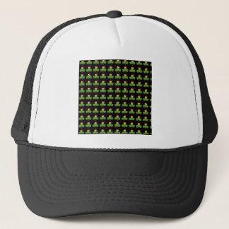 Irish Christmas Clover Pattern Trucker Hat