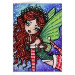 Irish Christmas Fae Fairy Snow Fantasy Card
