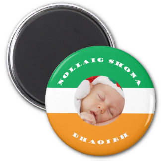 Irish Christmas Gaelic Greeting with Your Photo Magnet
