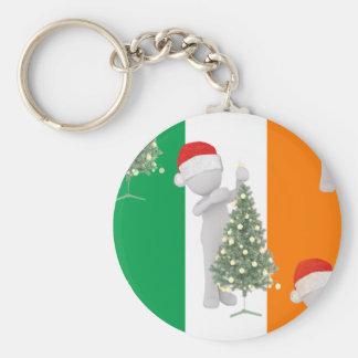 irish christmas keychain