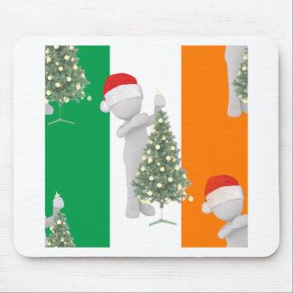 irish christmas mouse pad
