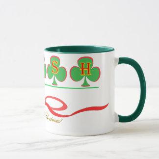 Irish Christmas Ringer Mug