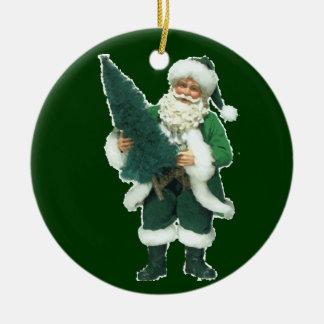 Irish Christmas Santa Claus Ceramic Ornament