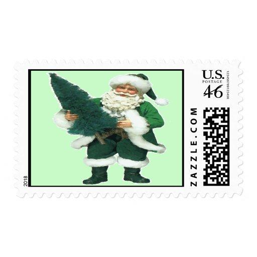 Irish Christmas Santa Claus Stamps