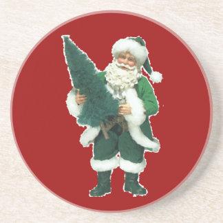 Irish Christmas Santa Claus Sandstone Coaster